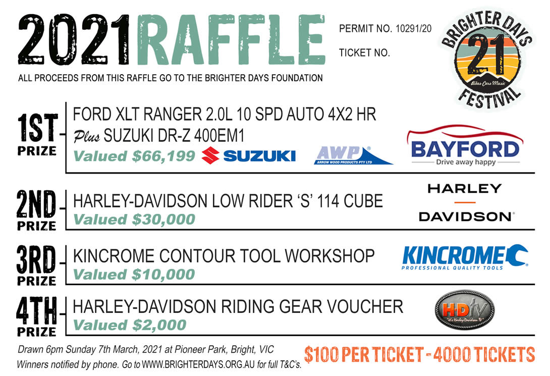 2021 RAFFLE ON SALE NOW